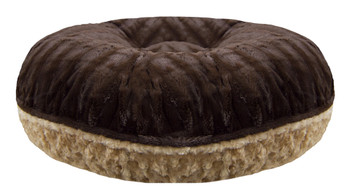 Bagel Pet Dog Bed - Camel Rose / Godiva Brown - 5 sizes