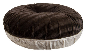 Bagel Pet Dog Bed - Godiva Brown / Blondie - 5 sizes