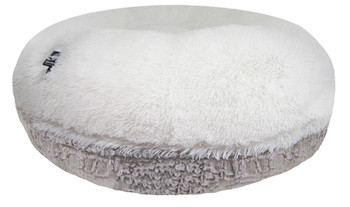 Bagel Pet Dog Bed - Serenity Grey / Snow White - 5 sizes