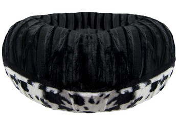 Bagel Pet Dog Bed - Black Puma / Spotted Pony - 5 sizes