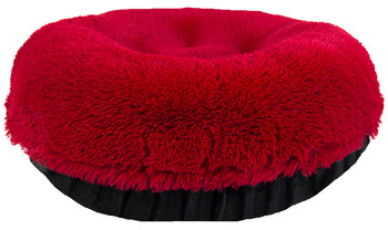 Bagel Pet Dog Bed - Lipstick Red / Black Puma - 5 sizes