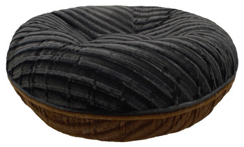 Bagel Pet Dog Bed - Godiva Brown / Puma Black - 5 sizes