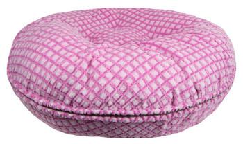 Bagel Pet Dog Bed - Pink It Fence - 5 sizes