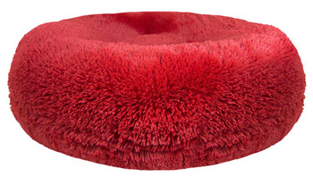 Bagel Pet Dog Bed - Lipstick Red - 5 sizes