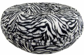 Bagel Pet Dog Bed - Zebra - 5 sizes