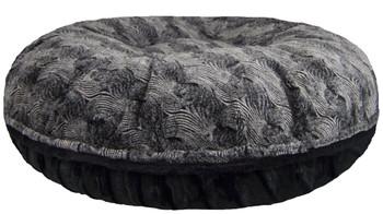 Bagel Pet Dog Bed - Arctic Seal / Puma Black - 5 sizes