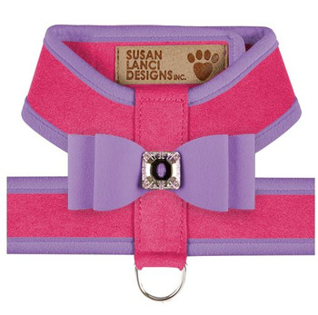 Big Bow Tinkie Harnesses - Pink Sapphire / French Lavender Trim & Bow