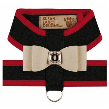 Big Bow Tinkie Harnesses - Black / Red Trim / Doe Bow