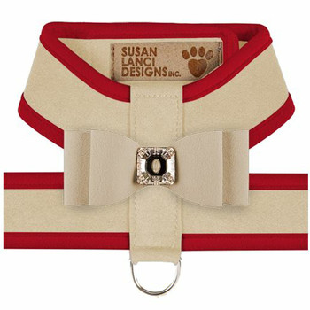 Big Bow Tinkie Harnesses - Doe / Red Trim & Bow