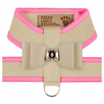 Big Bow Tinkie Harnesses - Doe / Perfect Pink Trim & Bow
