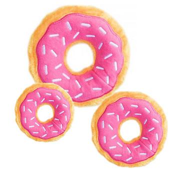 Sprinkles Donutz Pet Dog Toy - Strawberry - 3 Sizes