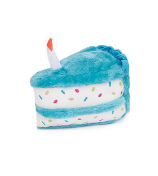 Birthday Cake Pet Dog Toy - Blue