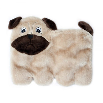 Squeakie Pup Dog Toy, 11 Squeakers - Pug