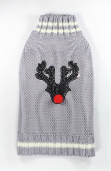 Reindeer Dog Sweater - Chocolate
