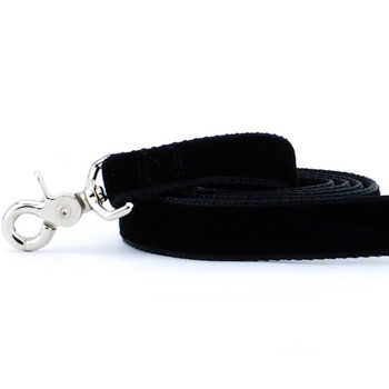 Black Swiss Velvet Dog Leash