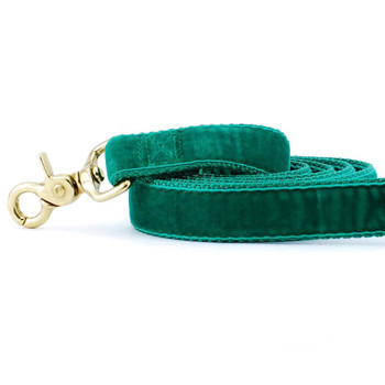 Emerald Green Swiss Velvet Dog Leash