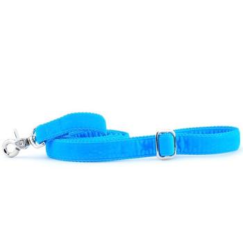 Turquoise Swiss Velvet Dog Leash