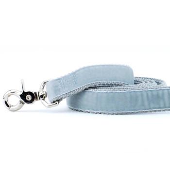Silver Swiss Velvet Dog Leash