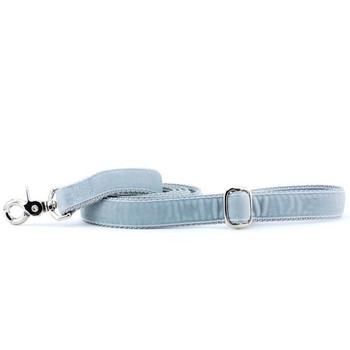 Silver Swiss Velvet Dog Leash