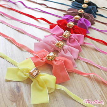 Wooflink Velvet Bow Dog Necklace