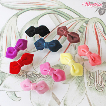 Wooflink Mini Velvet Dog Hair Bow Barrettes