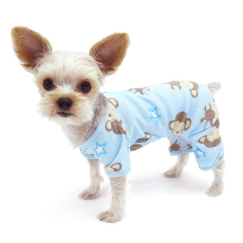 Blue Monkey Dog Pajamas