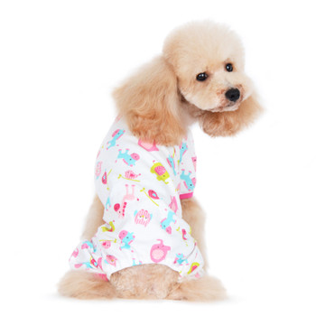 Pink Zoo Dog Pajamas