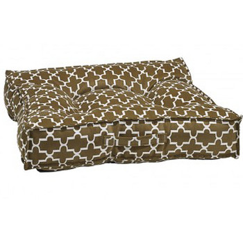 Cedar Lattice Microvelvet Piazza Pet Dog Bed