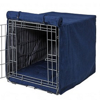 Midnight Microlinen Crate Cover