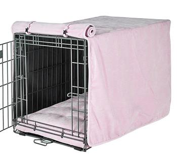 Blush Microvelvet Crate Cover