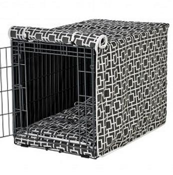 Courtyard Grey Microvelvet Crate Cover
