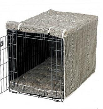 Herringbone Microvelvet Crate Cover
