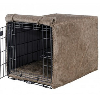 Wheat Microvelvet Microcord Crate Cover