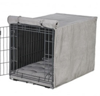 Silver Treats Microvelvet Crate Cover