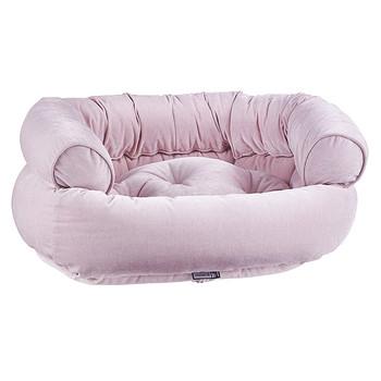 Blush Microvelvet Double Donut Pet Dog Bed