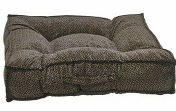 Chocolate Bones Microvelvet Piazza Pet Dog Bed