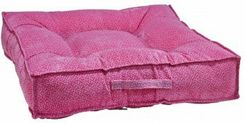 Flamingo Pink Bones Microvelvet Piazza Pet Dog Bed