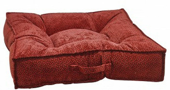 Cherry Bones Microvelvet Piazza Pet Dog Bed