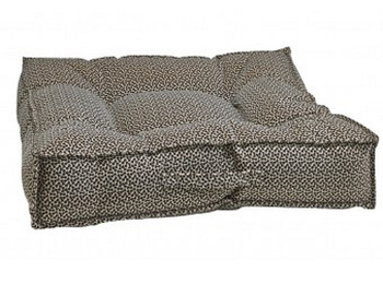 Khaki Bones Microvelvet Piazza Pet Dog Bed