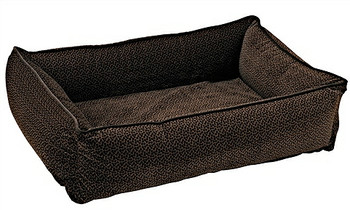 Chocolate Bones Microvelvet Urban Lounger Pet Dog Bed