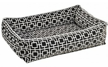Courtyard Grey Microvelvet Urban Lounger Pet Dog Bed