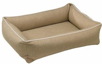 Flax Microlinen Bolstered Urban Lounger Pet beds