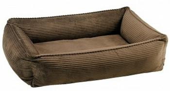 Coffee Corduroy Urban Lounger Pet Dog Bed