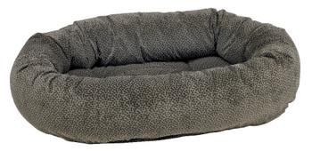 Pewter Bones Microvelvet Donut Pet Dog Bed