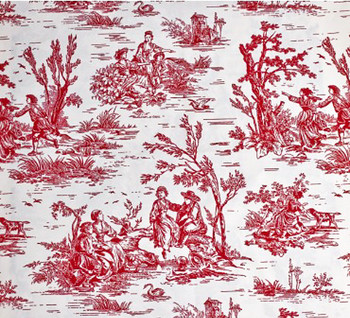 Raspberry Toile Buttercup Pet Dog or Cat Bed