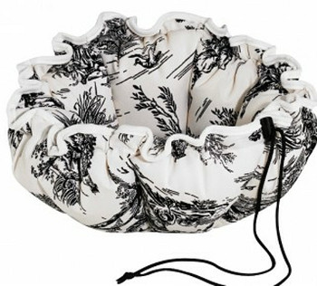 Onyx Toile Buttercup Pet Dog or Cat Bed