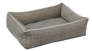 Herringbone Microvelvet Urban Lounger Pet Dog Bed