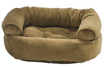 Amber Microvelvet Double Donut Pet Dog Bed