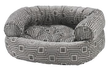 Cafe au Lait Micro Jacquard Double Donut Pet Dog Bed