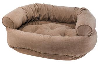 Cappucino Treats Microvelvet Double Donut Pet Dog Bed